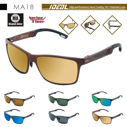 4GL IDEAL MA18 Magne Alloy Spring Hinge Polarized Sunglasses UV400