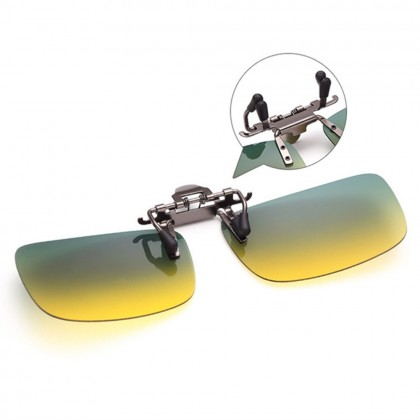 4GL CS10 Day Night Vision Driving Clip On Polarized Sunglasses