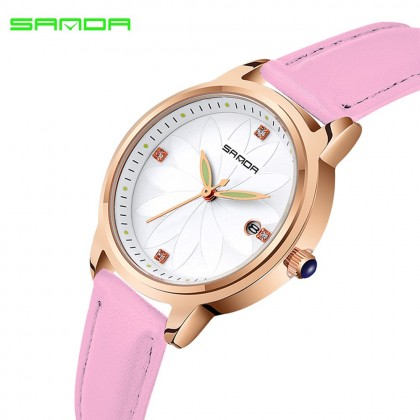 4GL Sanda P219 Flower Language Women Watches Jam Tangan