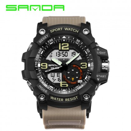 4GL Sanda 759 Military Sport Digital Analogue Watch
