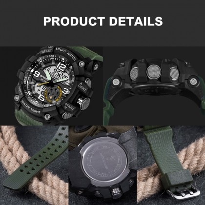 4GL Sanda 759 Military Sport Digital Analogue Watch