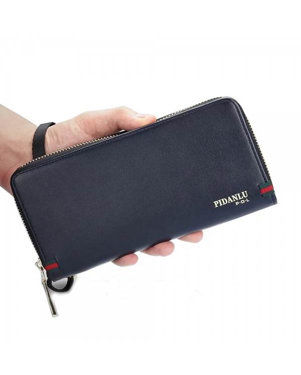 4GL Pidanlu S2172 Men Women Wallet Long Zipper Purse Wristlet Dompet