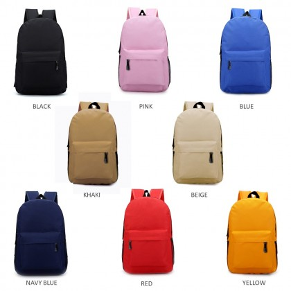 4GL Fashion Plain Colour Urban Daypack Backpack School Bag