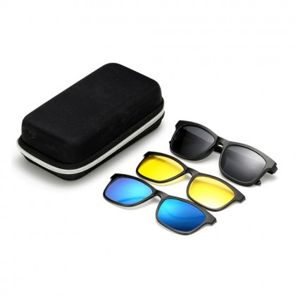4GL 2201F Anti Blue Light Computer Glasses Polarized Sunglasses Clip On TR90