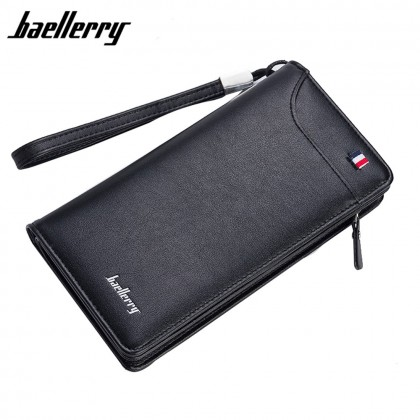 4GL Baellerry 318 Men Women Wallet Long Zipper Purse Wristlet Dompet
