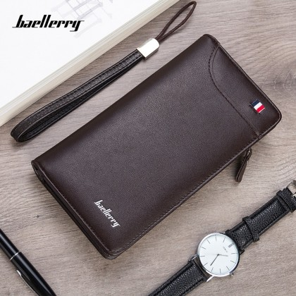 4GL Baellerry 318 Long Wallet Men Women Zipper Purse Wristlet Dompet