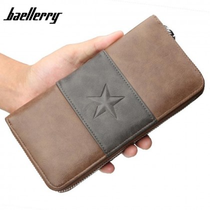 4GL Baellerry 9030 Men Wallet Long Zipper Purse Wristlet Dompet