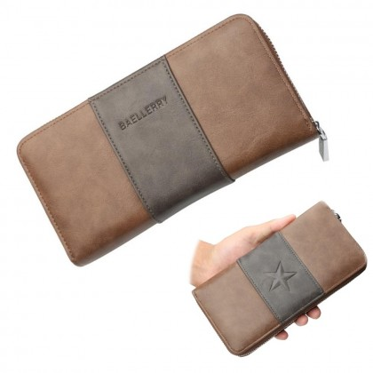 4GL Baellerry 9030 Long Wallet Men Zipper Purse Wristlet Dompet