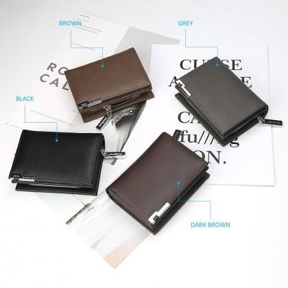 4GL Baellerry D1102 Short Wallet Men Zipper Purse Wristlet Dompet