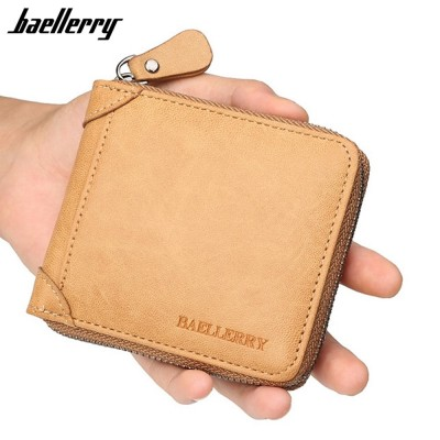 4GL Baellerry D9250 Men Wallet Zipper Purse Wristlet Dompet