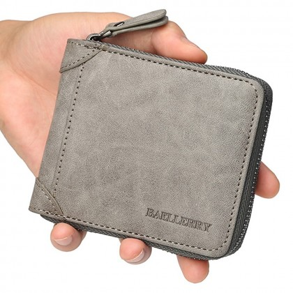 4GL Baellerry D9250 Short Wallet Men Zipper Purse Wristlet Dompet