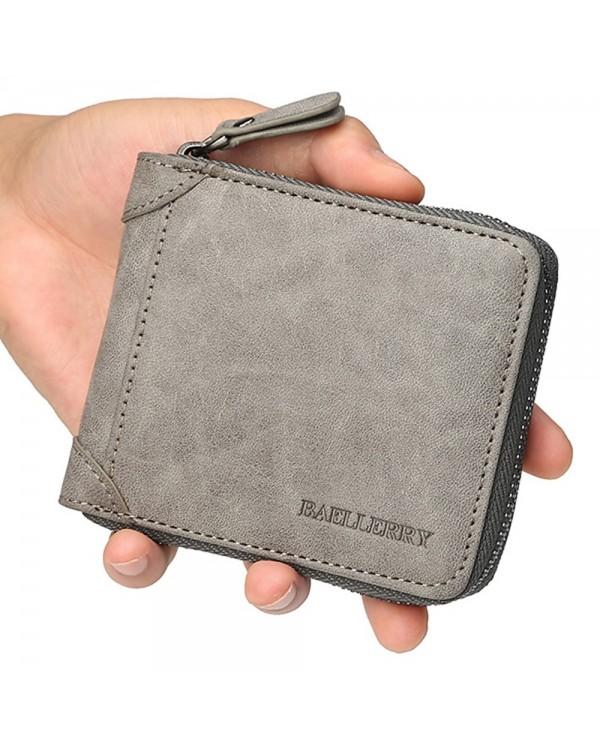 4GL Baellerry D9250 Men Wallet Zipper Purse Wristlet Dompet