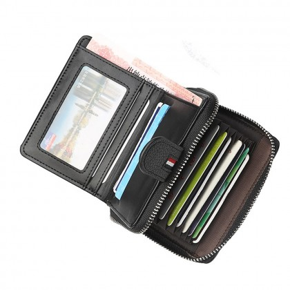 4GL Baellerry D1103 Men Wallet Zipper Purse Wristlet Dompet