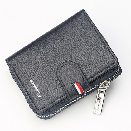4GL Baellerry D1103 Short Wallet Men Zipper Purse Wristlet Dompet