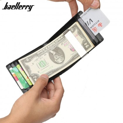 4GL Baellerry K6750 Men Card Holder Money Clip Wallet Coin Dompet