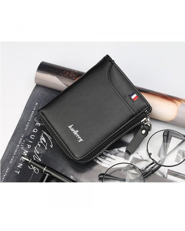 4GL Baellerry 311 Vertical Men Wallet Coin Zipper Purse Dompet