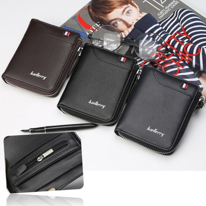 4GL Baellerry 311 Vertical Men Wallet Coin Zipper Purse Dompet
