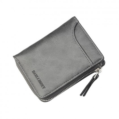 4GL Baellerry D3209 Men Short Wallet Zipper Purse Card Holder Dompet
