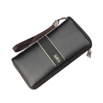 4GL Baellerry S6088 Long Wallet Men Zipper Purse Wristlet Dompet