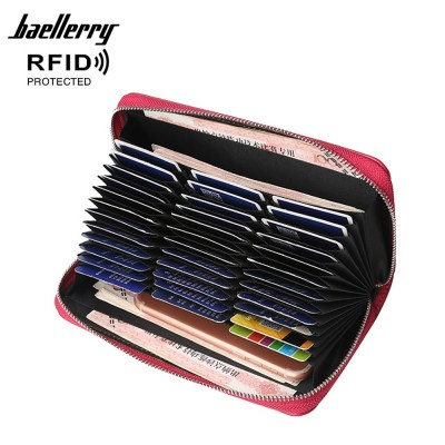 4GL Baellerry P6608 Women Long Zipper Purse Wallet Card Holder Dompet