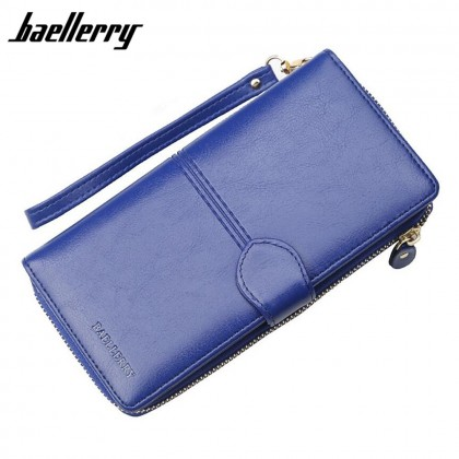 4GL Baellerry N3846 Women Long Zipper Purse Wallet Wristlet Card Holder Dompet