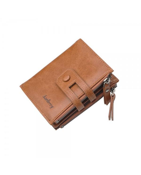 4GL Baellerry D3206 Men Short Wallet Zipper Purse Card Holder Dompet