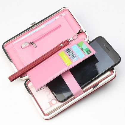 4GL Pidanlu N2366 Women Long Wallet Purse Bag Candy Colour