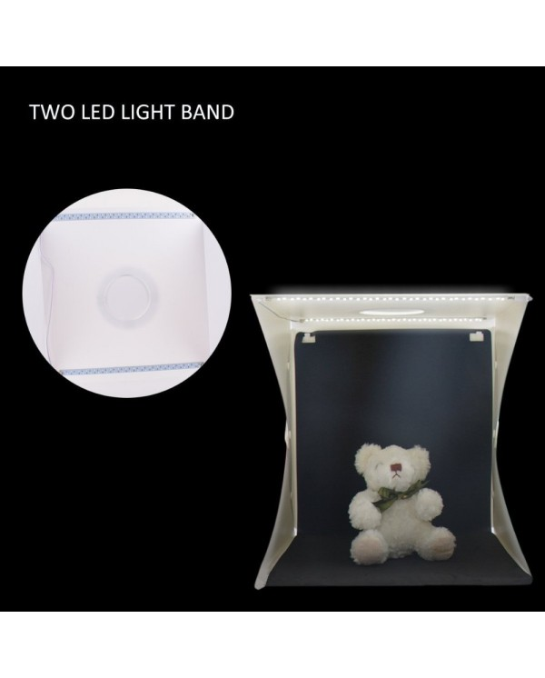 4GL 40cm(L) Premium 2 LED Light Button Portable Photo Studio Adjustable Brightness