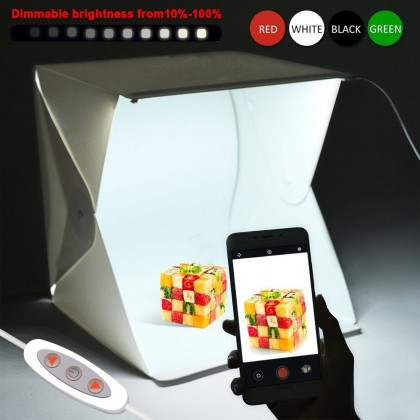 4GL EZRoom 40cm(L) Photo Studio Premium 2 LED Light Button Portable Adjustable Brightness