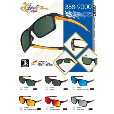 4GL IDEAL 388-9000 Polarized Sport Sunglasses UV400 TR Frame