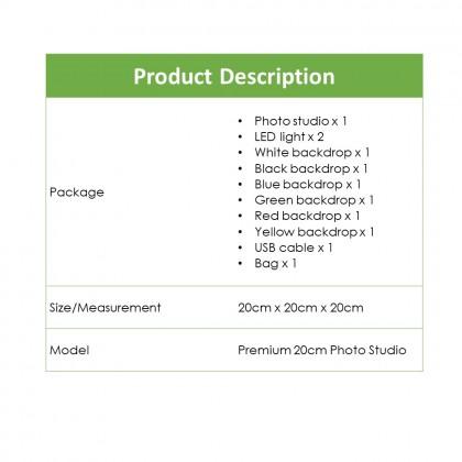 4GL 23cm(S) Premium Photo Studio 2 LED Light Button Portable