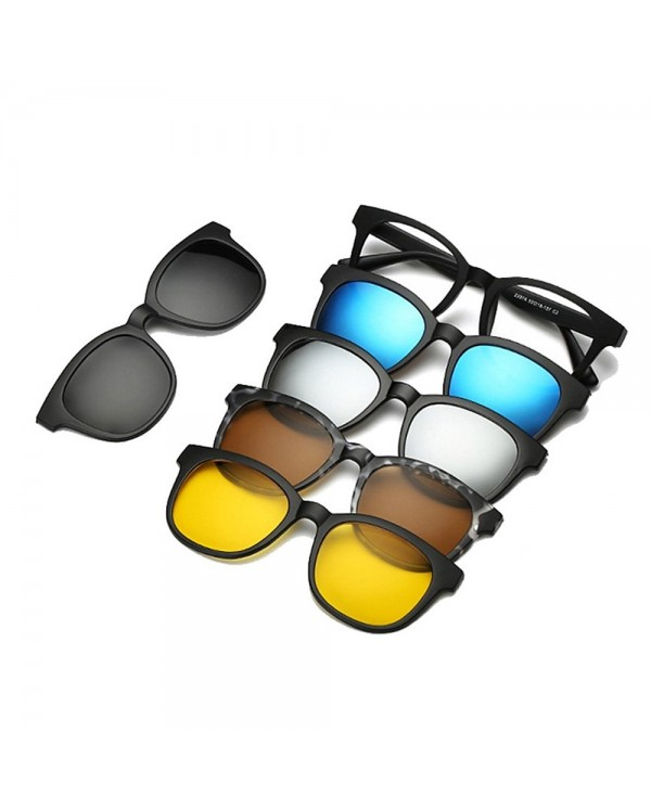 4GL 2207A Magnetic Clip On 6 in 1 Polarized UV Protection Sunglasses