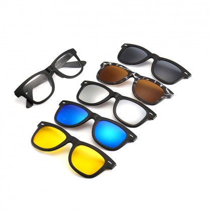 4GL 2206A Magnetic Clip On 6 in 1 Polarized UV Protection Sunglasses