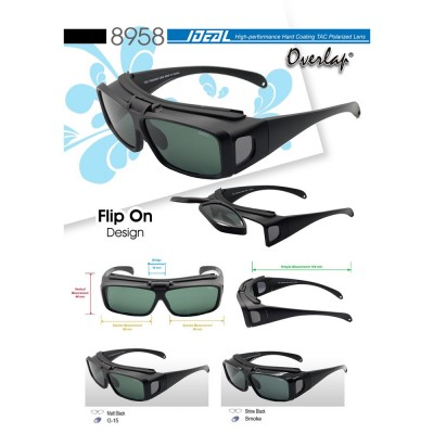 4GL IDEAL 8958 Overlap Fit Over Polarized Sport Sunglasses UV 400