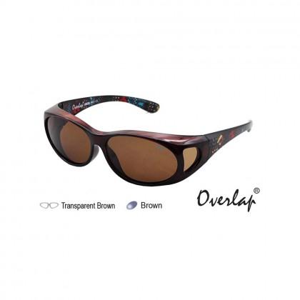4GL Ideal 8961 Polarized Sunglasses Overlap Fit Over Sport UV 400