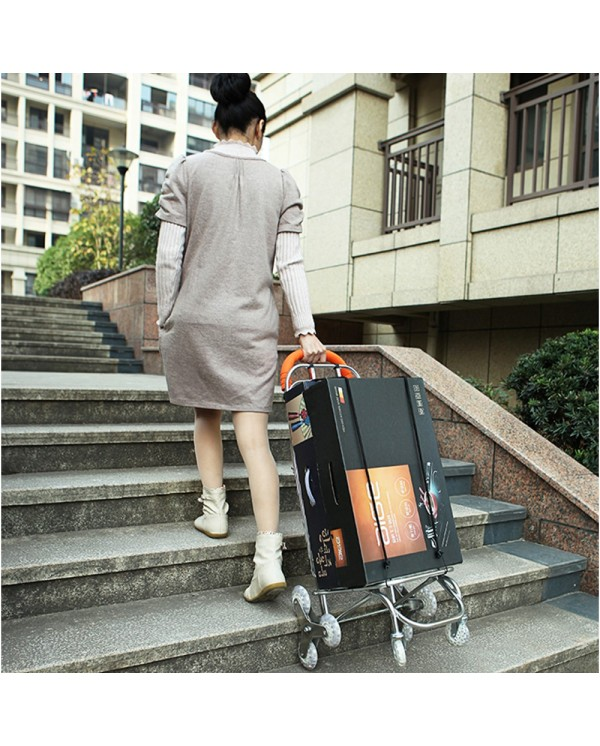 4GL Foldable Grocery Shopping Trolley Extra Strong Durable Wheels Climb Stairs Multi Function