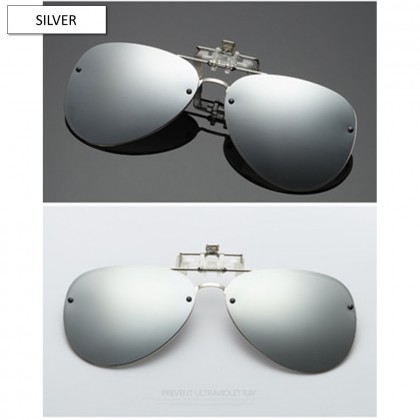 4GL CS12 Fashion Metal Frame Clip On Polarized Sunglasses