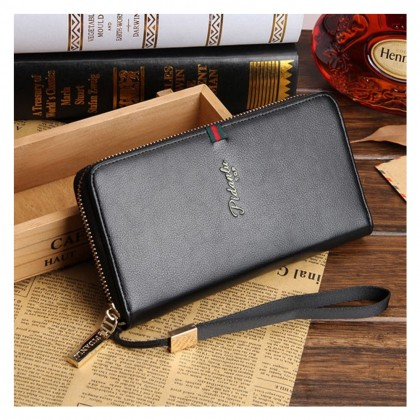 4GL Pidanlu S2171 Long Wallet Men Women Zipper Purse Wristlet Dompet