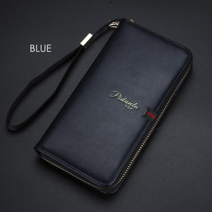 4GL Pidanlu Top S2171 Men Women Long Zipper Wallet Purse Wristlet Dompet