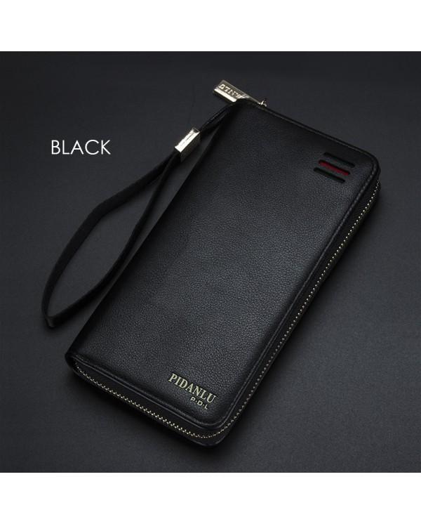4GL Pidanlu S2173 Men Women Long Zipper Wallet Purse Wristlet Dompet