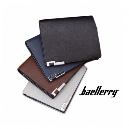 4GL Baellerry 13839 Vertical Short Wallet Men Women Slim Purse Dompet