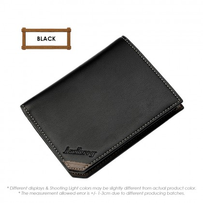 4GL Baellerry DG128 Vertical Short Wallet Men Women Leather Purse Dompet