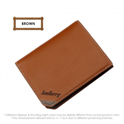4GL Baellerry DG128 Vertical Men Women Leather Short Wallet Purse Dompet