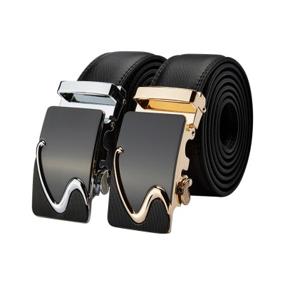 4GL LB30 Luxury Business Men Leather Automatic Buckle Belts Tali Pinggang G0617