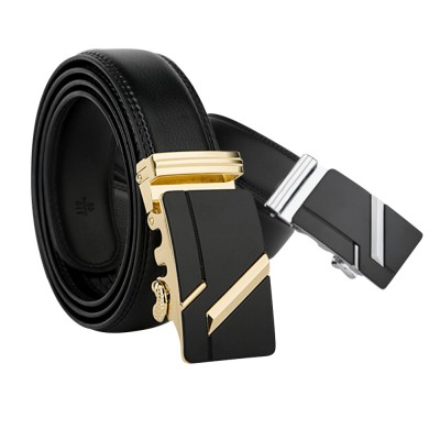 4GL LB17 Luxury Business Men Leather Automatic Buckle Belts Tali Pinggang G0618