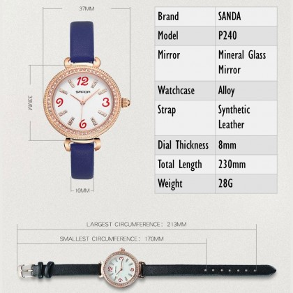 4GL Sanda P240 Watch Atmospheric Women Watches Jam Tangan
