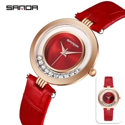 4GL SANDA P245 Simple Rhinestone Women Watch Watches Jam Tangan