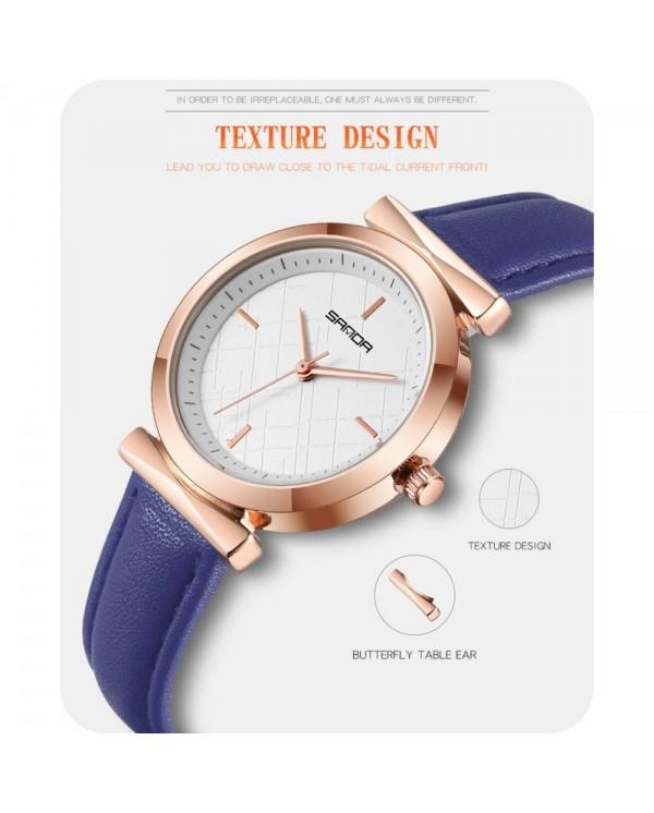 4GL SANDA P246 Veins Dial Design Women Watches Jam Tangan