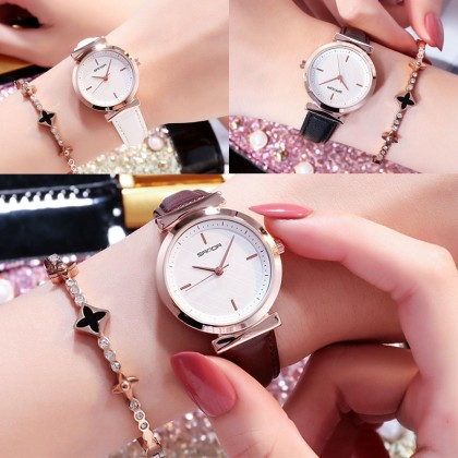 4GL Sanda P246 Watch Veins Dial Design Women Watches Jam Tangan