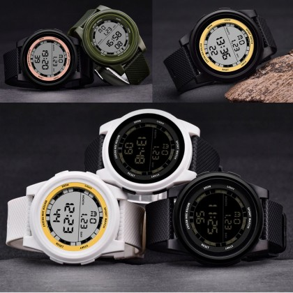 4GL SANDA 365 Super Slim Digital Sport Watch Women Men Jam Tangan